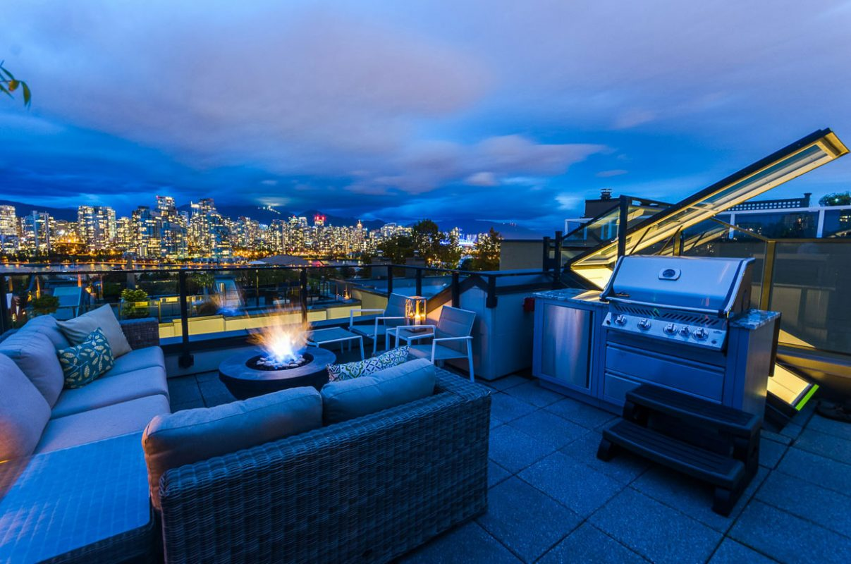 Spruce St Roof – Vancouver View
